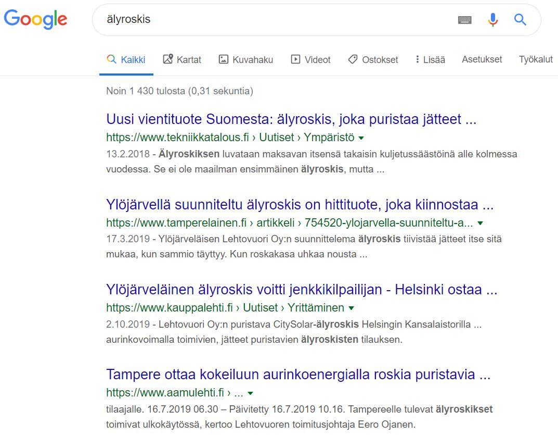 """Sisällöntuottaja-case: näin """"vallattiin"""" Googlen TOP 1–10"""